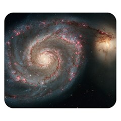 Whirlpool Galaxy And Companion Double Sided Flano Blanket (Small)