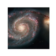 Whirlpool Galaxy And Companion Small Satin Scarf (Square)