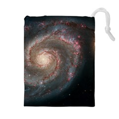 Whirlpool Galaxy And Companion Drawstring Pouches (Extra Large)