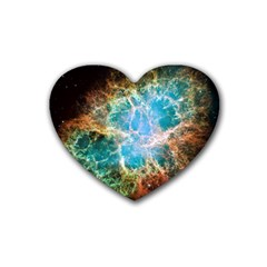 Crab Nebula Heart Coaster (4 pack)