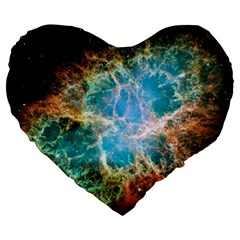 Crab Nebula Large 19  Premium Heart Shape Cushions
