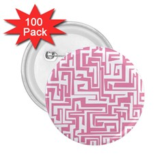 Pink pattern 2.25  Buttons (100 pack)