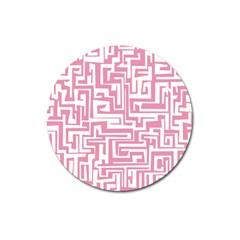 Pink pattern Magnet 3  (Round)