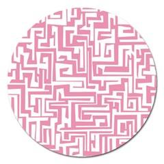 Pink pattern Magnet 5  (Round)