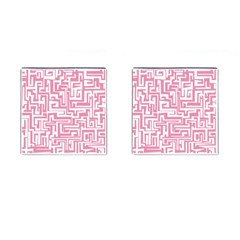 Pink pattern Cufflinks (Square)