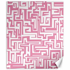 Pink pattern Canvas 8  x 10