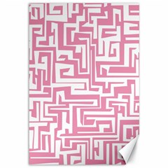 Pink pattern Canvas 12  x 18