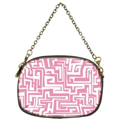 Pink pattern Chain Purses (Two Sides)