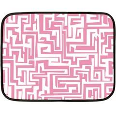 Pink pattern Double Sided Fleece Blanket (Mini)
