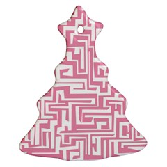 Pink pattern Christmas Tree Ornament (Two Sides)