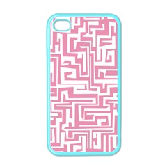 Pink pattern Apple iPhone 4 Case (Color)
