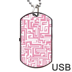 Pink pattern Dog Tag USB Flash (Two Sides)