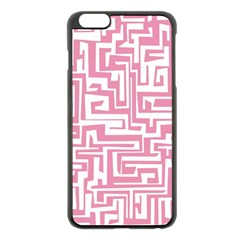 Pink pattern Apple iPhone 6 Plus/6S Plus Black Enamel Case