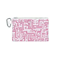 Pink pattern Canvas Cosmetic Bag (S)