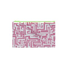 Pink pattern Cosmetic Bag (XS)