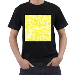 Pattern Men s T-Shirt (Black) (Two Sided)