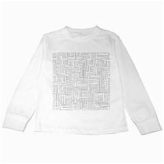 Pattern Kids Long Sleeve T-Shirts