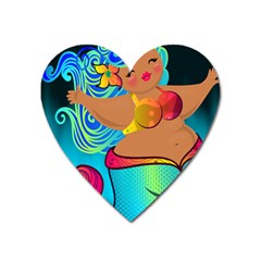 Mermaids Heaven Heart Magnet