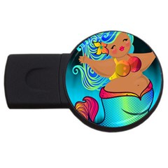 Mermaids Heaven USB Flash Drive Round (2 GB)