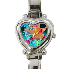 Mermaids Heaven Heart Italian Charm Watch