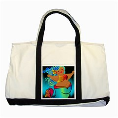 Mermaids Heaven Two Tone Tote Bag