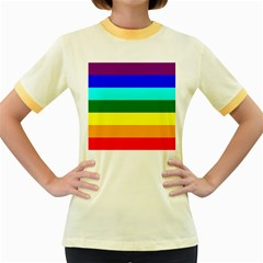 Rainbow Women s Fitted Ringer T-Shirts
