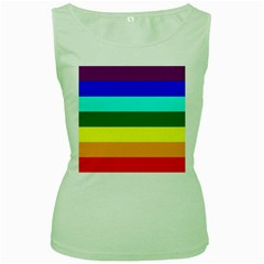 Rainbow Women s Green Tank Top