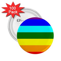 Rainbow 2.25  Buttons (100 pack)