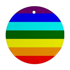 Rainbow Round Ornament (Two Sides)