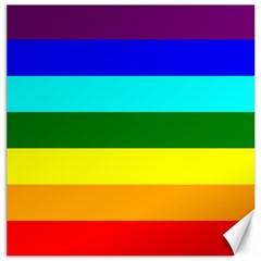 Rainbow Canvas 16  x 16