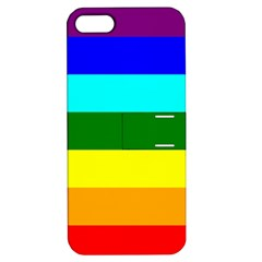 Rainbow Apple iPhone 5 Hardshell Case with Stand