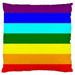 Rainbow Large Flano Cushion Case (Two Sides)