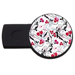 Floral pattern USB Flash Drive Round (4 GB)