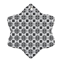 Pattern Snowflake Ornament (Two Sides)