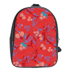 Floral pattern School Bags(Large)