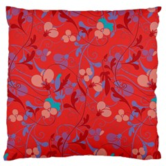 Floral pattern Large Flano Cushion Case (Two Sides)