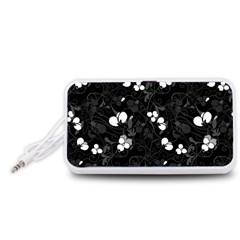 Floral pattern Portable Speaker (White)