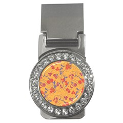 Floral pattern Money Clips (CZ)