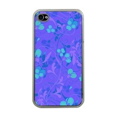 Floral pattern Apple iPhone 4 Case (Clear)