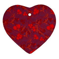 Red floral pattern Ornament (Heart)