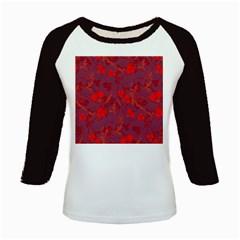 Red floral pattern Kids Baseball Jerseys