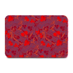 Red floral pattern Plate Mats
