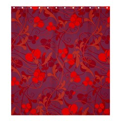 Red floral pattern Shower Curtain 66  x 72  (Large)