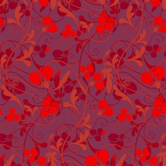 Red floral pattern Magic Photo Cubes