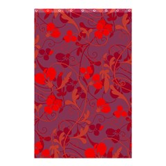 Red floral pattern Shower Curtain 48  x 72  (Small)
