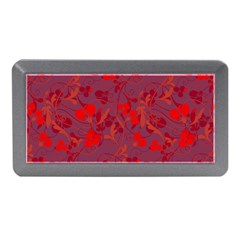 Red floral pattern Memory Card Reader (Mini)