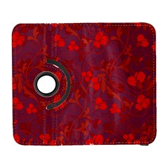 Red floral pattern Galaxy S3 (Flip/Folio)