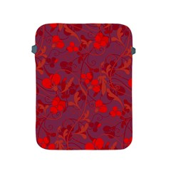 Red floral pattern Apple iPad 2/3/4 Protective Soft Cases