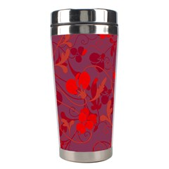 Red floral pattern Stainless Steel Travel Tumblers