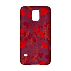 Red floral pattern Samsung Galaxy S5 Hardshell Case